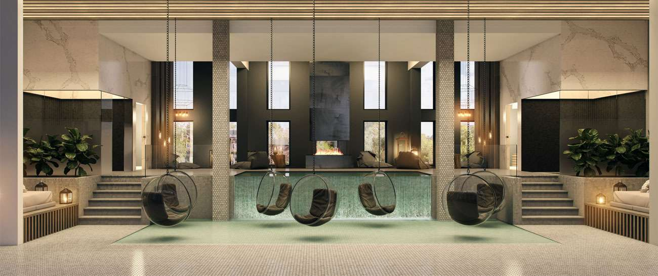 Relaxation-space spa indoor well-being downtown Montreal condo-luxury