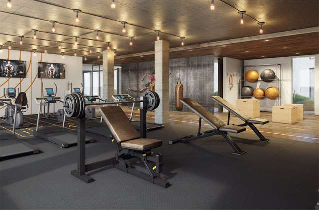 Quartier-des-spectacles luxury-condos indoor gym